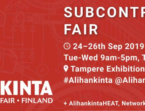 Welcome to the subcontracting trade fair 24-26th 2019 Tampere Exhibition and Sports Center